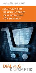 """Cover Broschüre Einkaufen im Internet - """"Damit aus dem Kauf im Internet kein Internepp für Sie wird"""""""