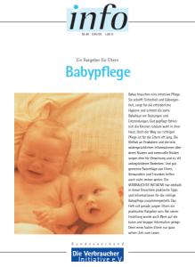 Cover Broschüren-Center: Babypflege