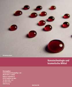 Cover Broschüren-Center: Nanotechnologie