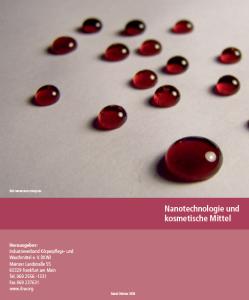 Cover Broschüren-Center: Nanotechnologie