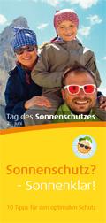 """Cover Broschüre """"Sicherheit durch Sonnenschutz"""""""
