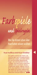 """Cover Broschüre """"Farbspiele und Spielregeln - was Sie immer schon über Haarfarben wissen wollten"""""""