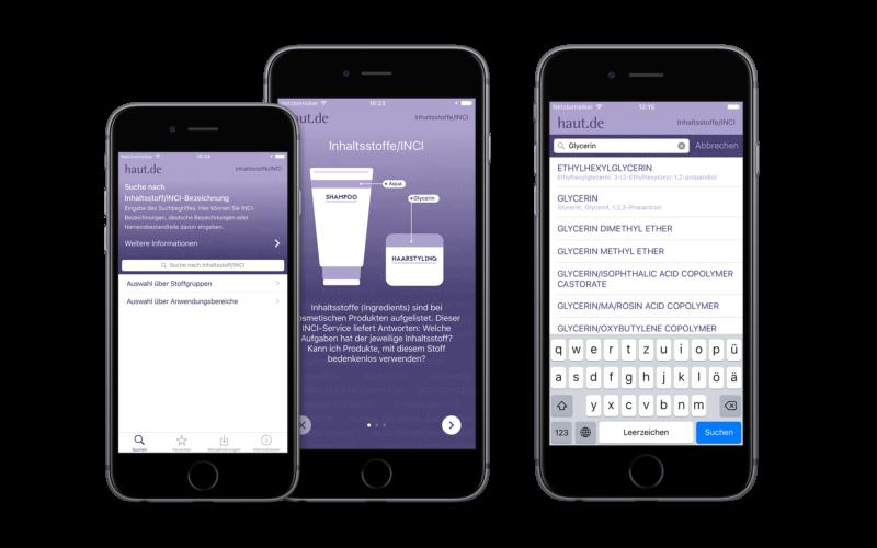 Neue INCI-App von haut.de informiert über mehr als 20.000 Inhaltsstoffe in kosmetischen Mitteln