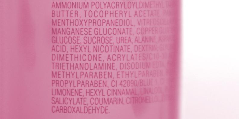 Inhaltsstoffe eines Komsetiksprodukts