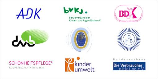 Logos der Kooperationspartner von haut.de