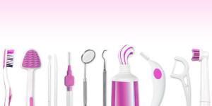 Verschiedene Zahnpflegeprodukte